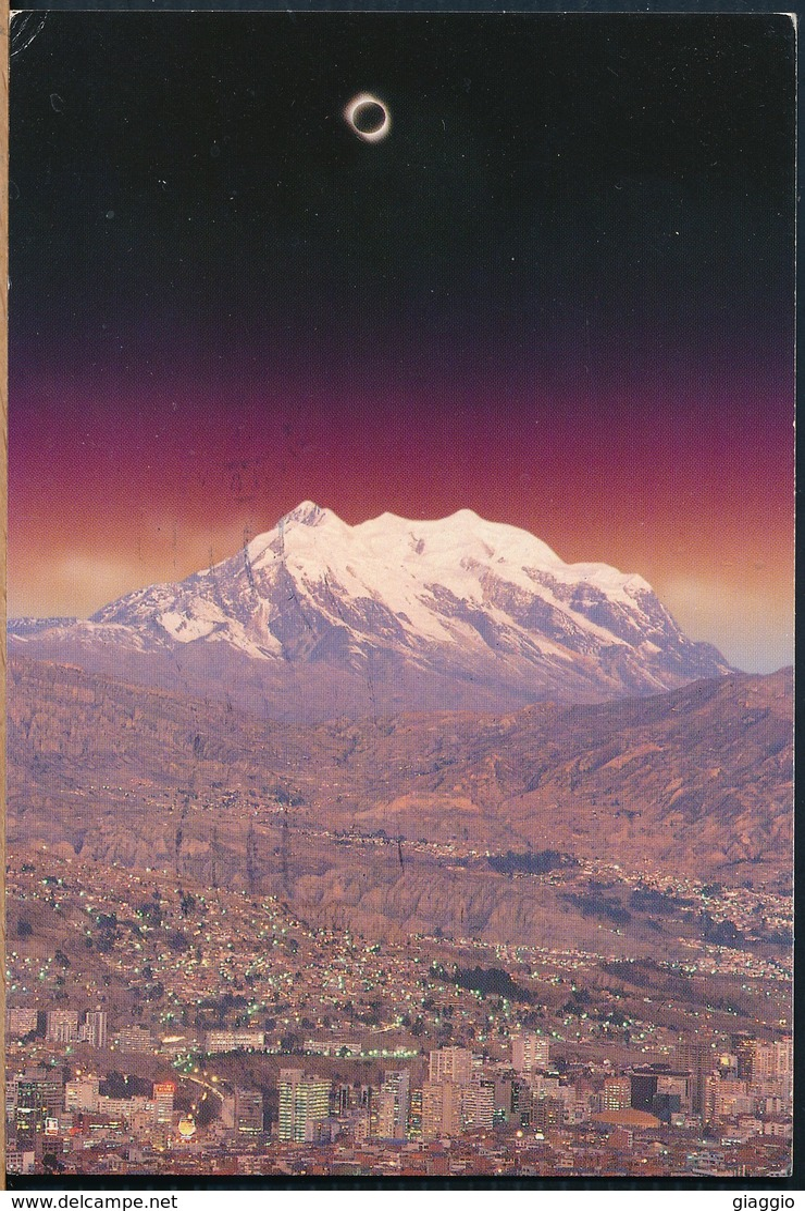 °°° 19491 - BOLIVIA - LA PAZ - ECLIPSE TOTAL - 1996 With Stamps °°° - Bolivia