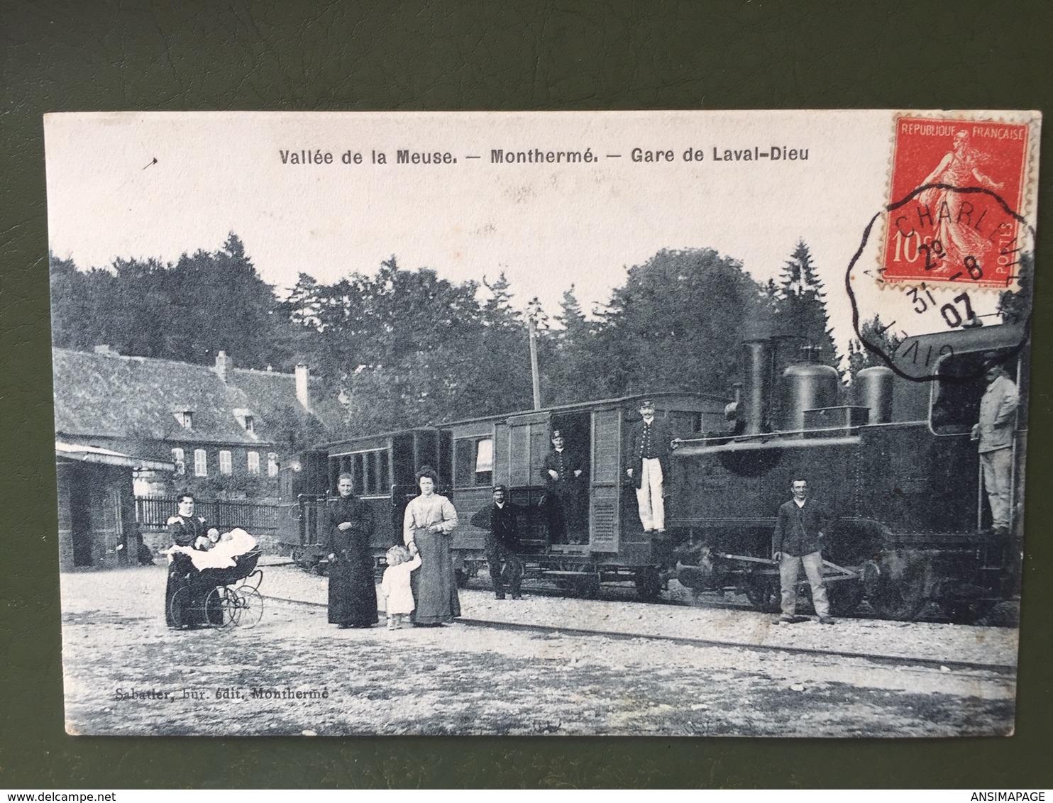 Vallée De La Meuse - MONTHERME- La Gare-Dieu. - Montherme