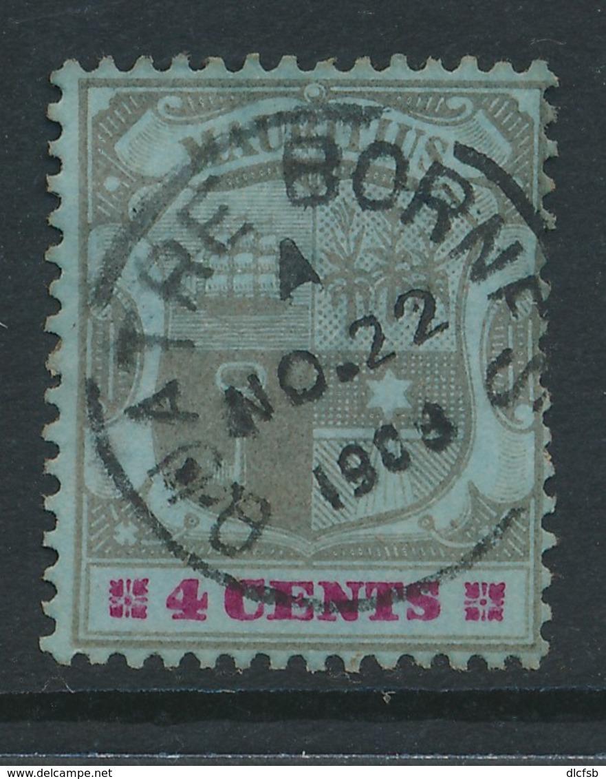 MAURITIUS, Postmark QUATRE BORNES - Mauritius (...-1967)
