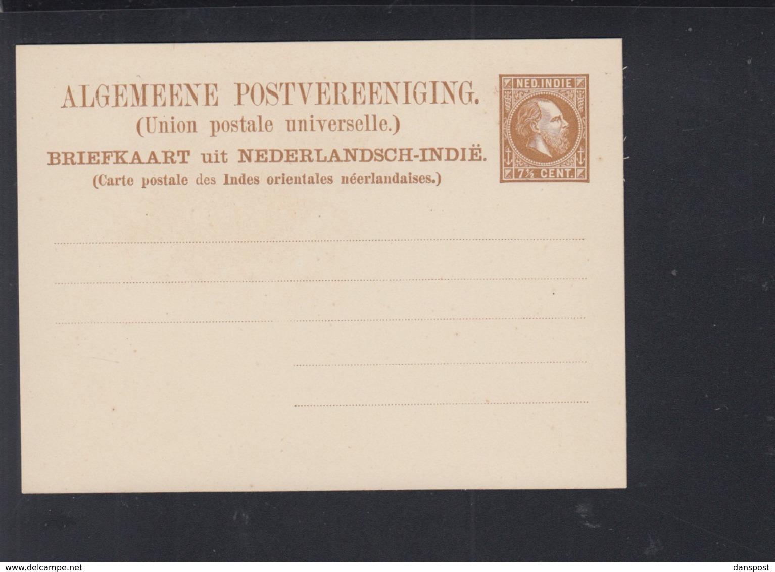 """Briefkaart 7 1"""" C. - Niederländisch-Indien"""