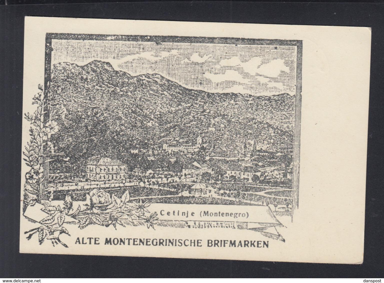 Montenegro Blanko-Karte 1943 - Montenegro