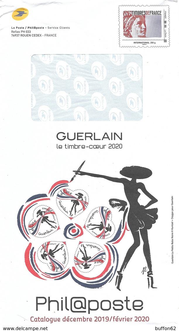 """France 2020 Entier Postal De Service """"La Petite Robe Noire Guerlain"""", Coeur Heart Mode Fashion Service Postal Stationery - Costumes"""