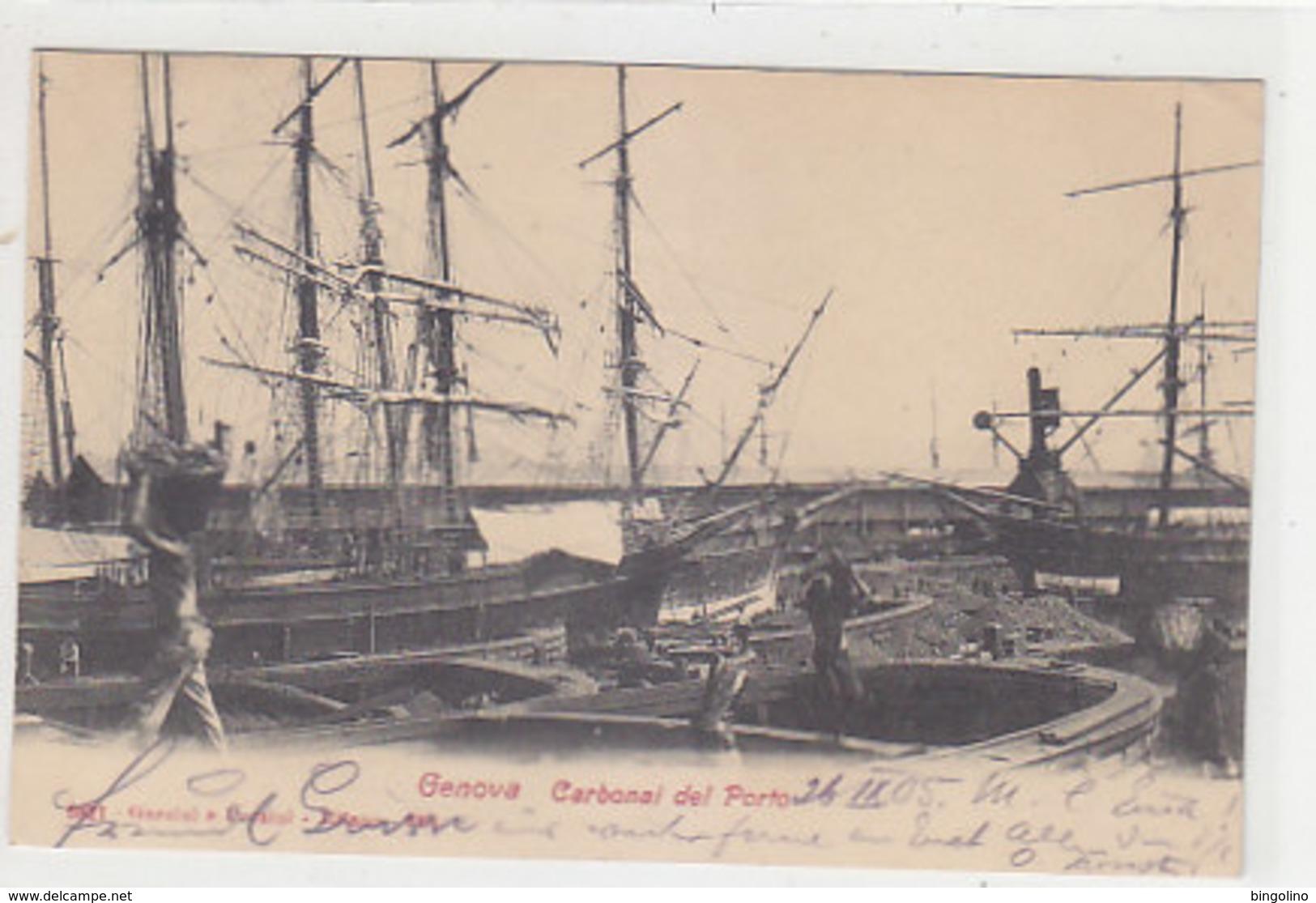 Genova - Carbonai Del Porto - 1905     (A-198-191110) - Sonstige