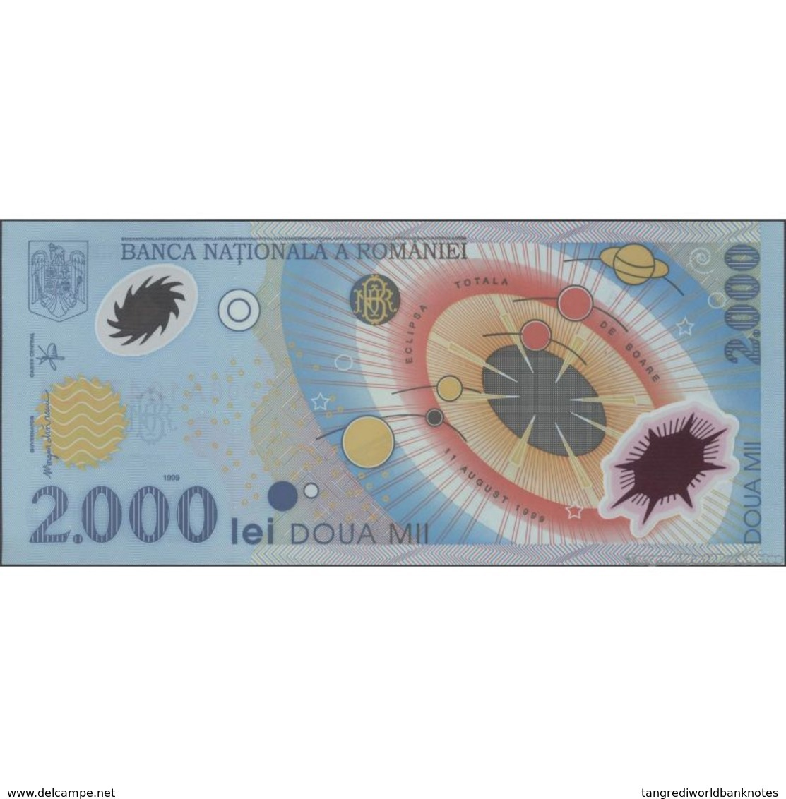 TWN - ROMANIA 111a - 2000 2.000 Lei 1999 (2000) Polymer - Total Solar Eclipse 1999 - Prefix 6A UNC - Romania