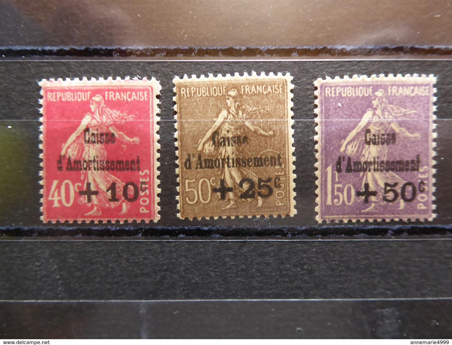 FRANCE Caisse D'amortissement  N° 266 à 268  Cote,420 € Neufs Sans Charnière MNH - Caisse D'Amortissement