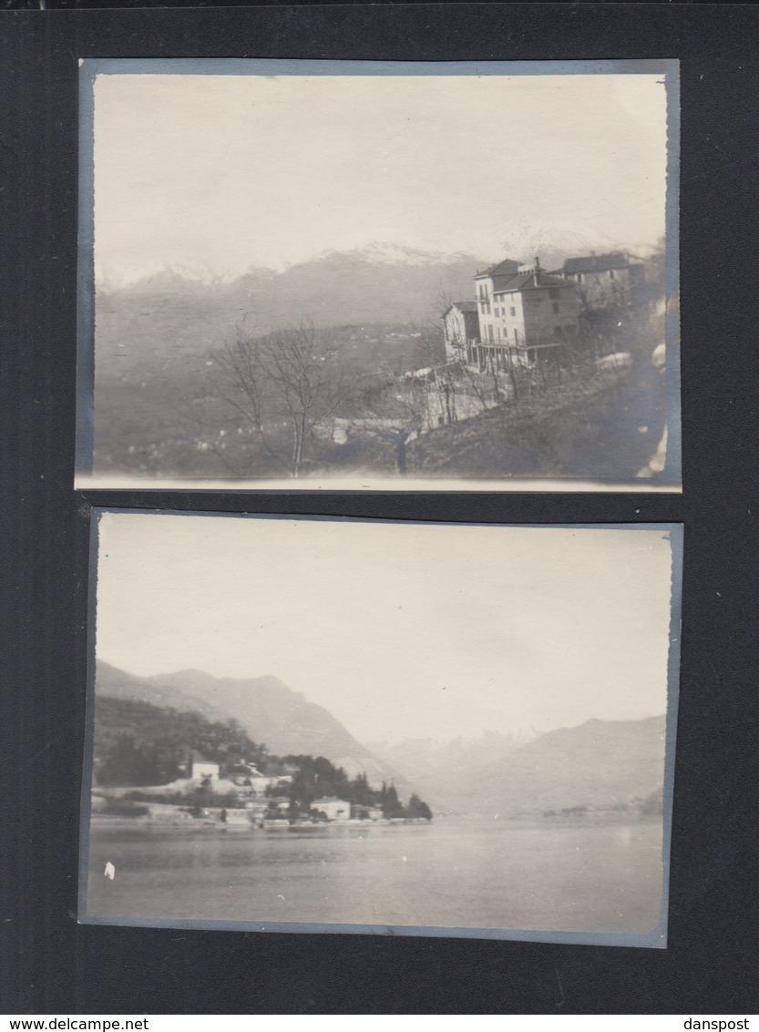 Schweiz 2 Kleinformatige Original Photos Castagnola Um 1912 - TI Tessin