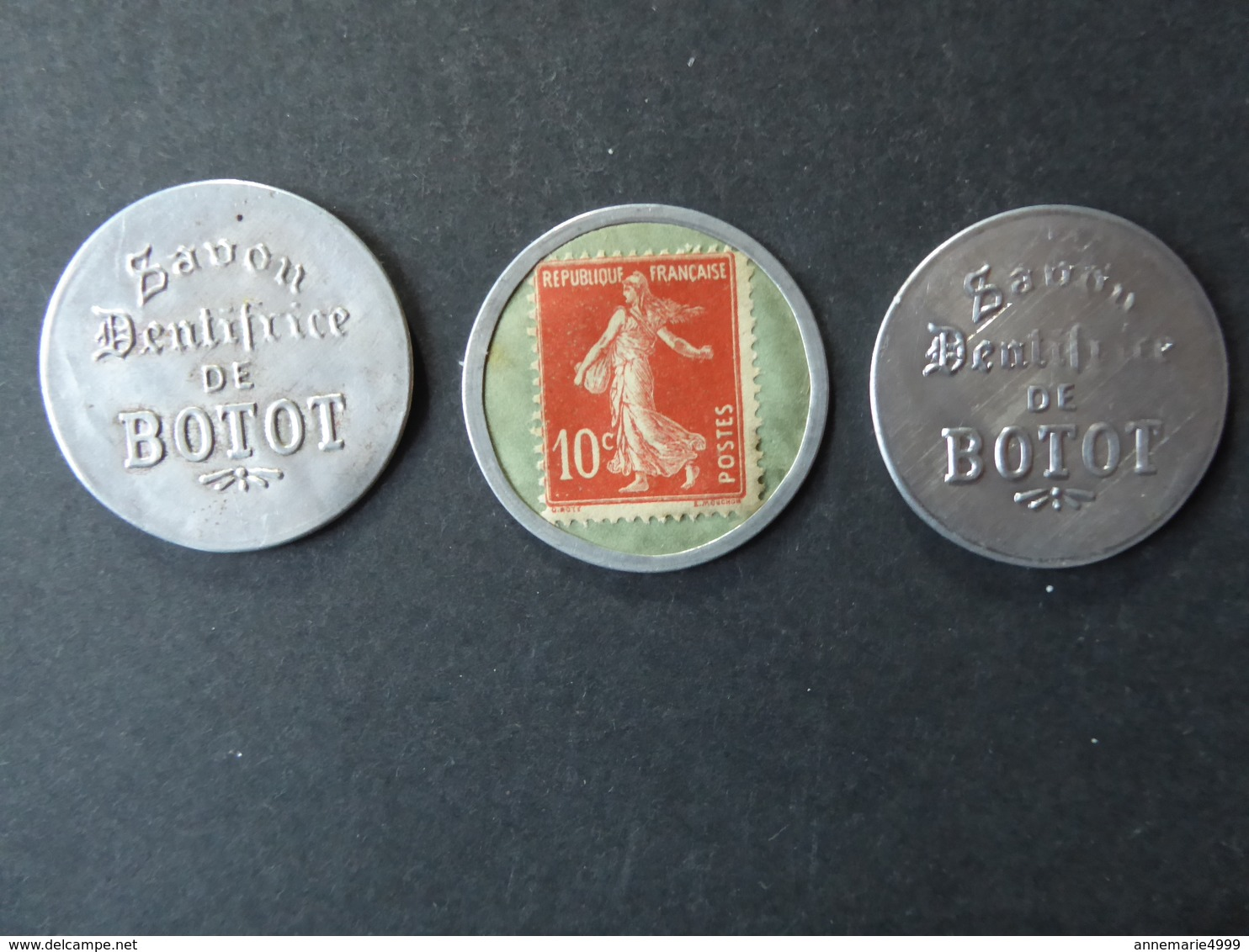 """FRANCE 3 Timbres-monnaie Différents """"Savon Dentifrice De Botot"""" VOIR COMMENTAIRE, Kapselgeld, Encased Postage. - Advertising"""