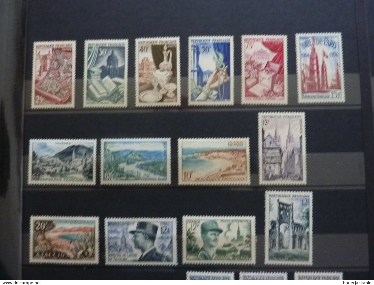 LOT TIMBRES COTE ENVIRON 1360 € , Scans Complets - France