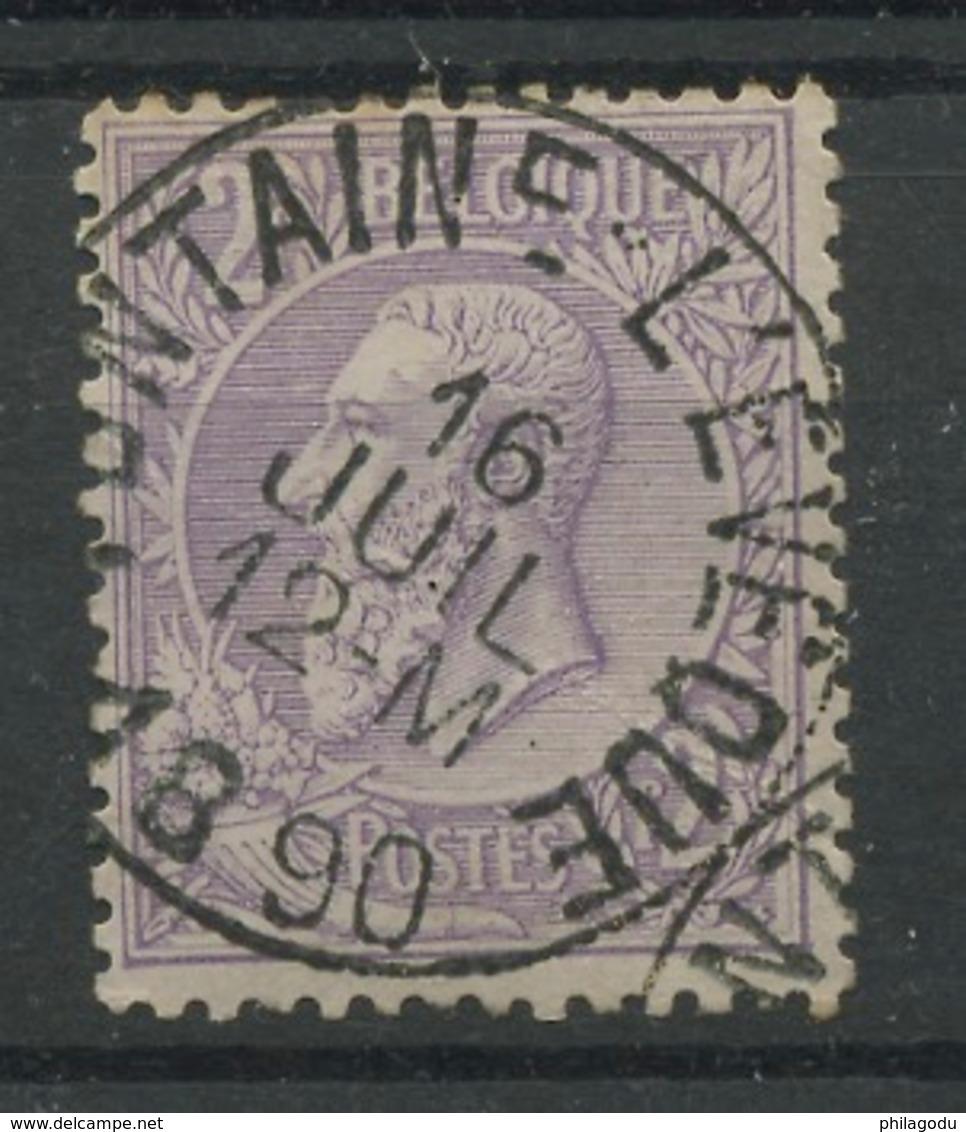 52 ØFontaine L'évêque  2F Léopold II.   Cote 40,-euros - 1884-1891 Leopold II.