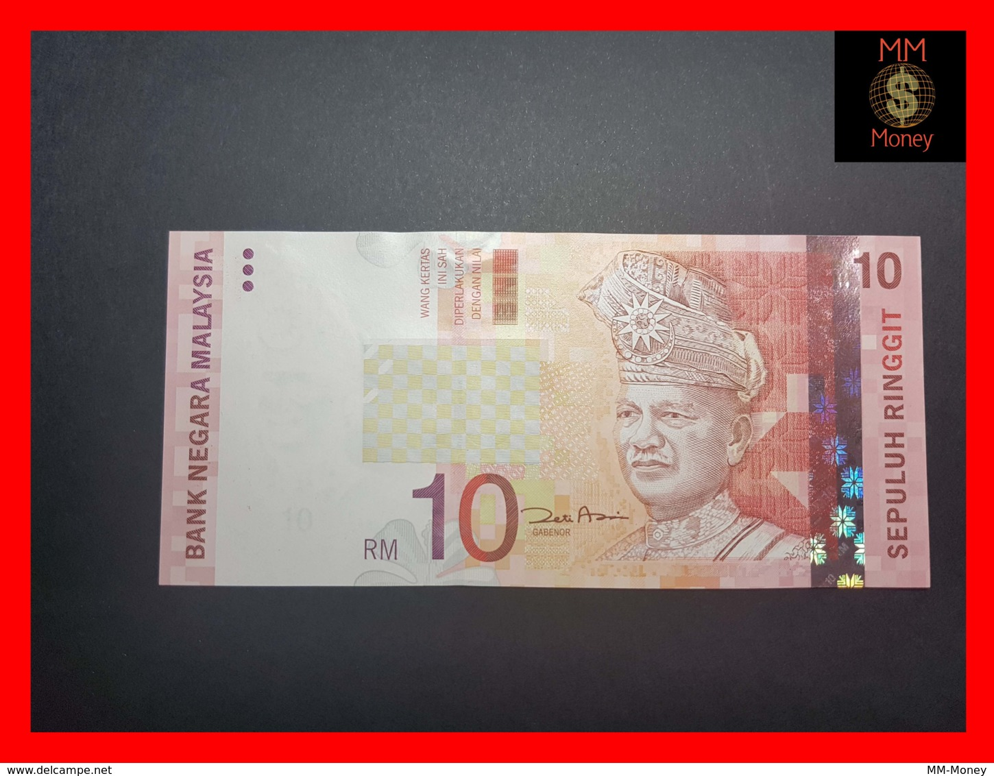 2004 UNC Polymer Banknote Malaysia 5 Ringgit p-47 1