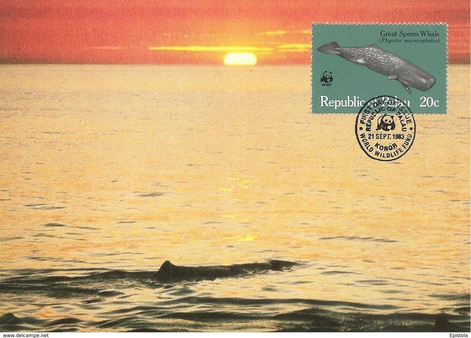 1983 - PALAU (Belau Ou Pelew) - Great Sperm Whale - Baleine  WWF - Palau