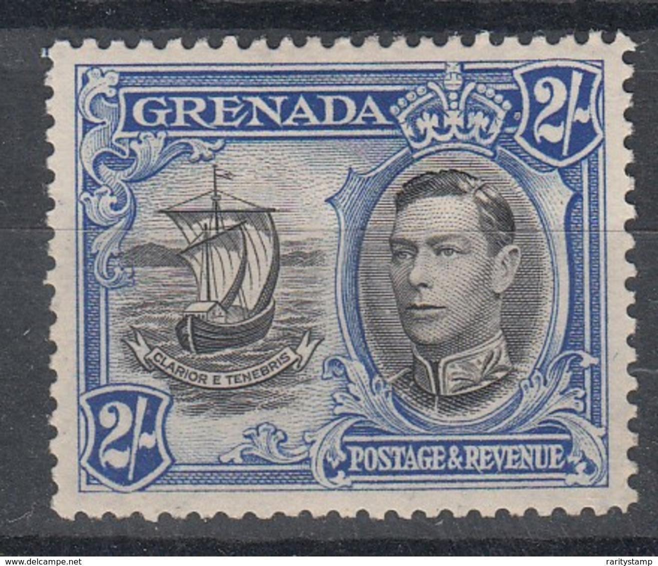 GRENADA 1938 2/- BLUE MLH SG 161 - Grenada (...-1974)