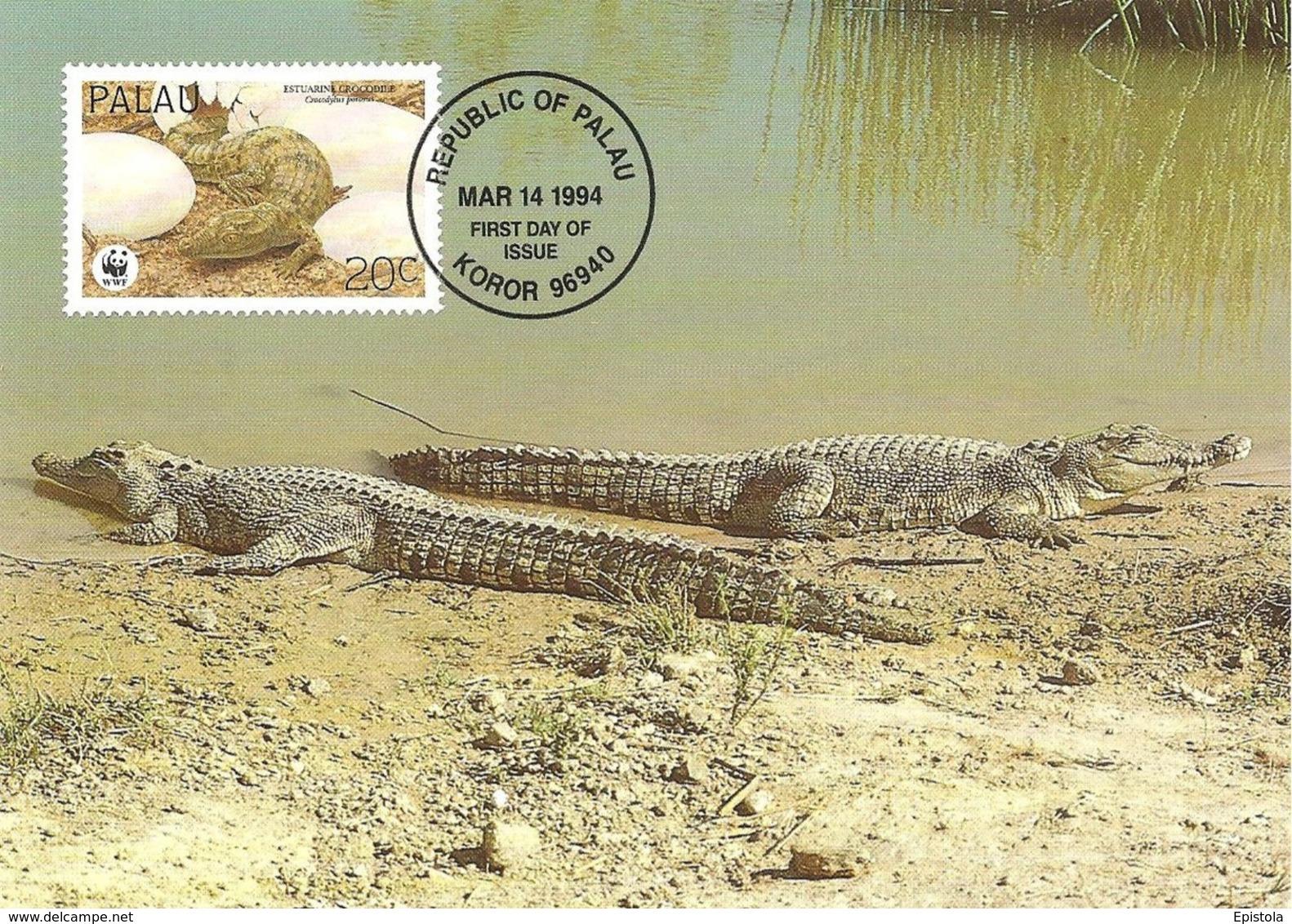 1994 - PALAU - Koror - Estuarine Crocodile - Crocodile à Double Crête WWF - Palau