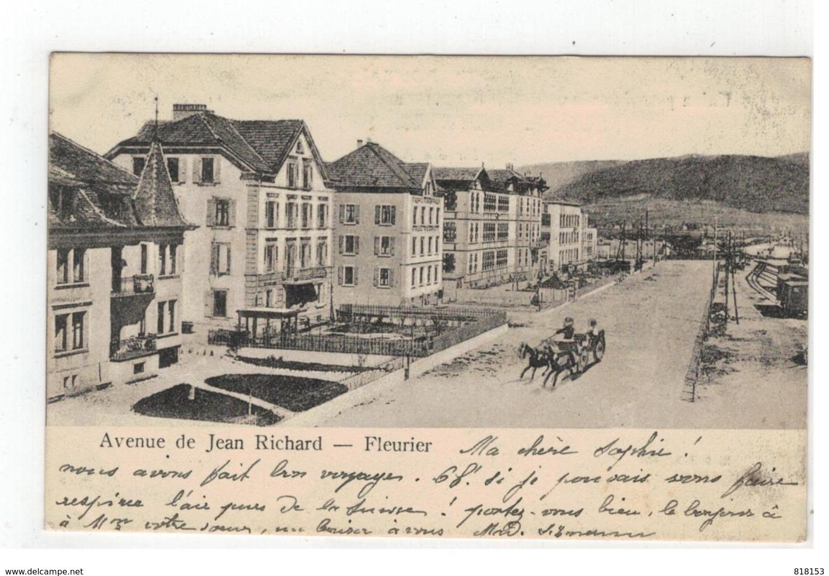 Fleurier   -  Avenue De Jean Richard   R & Sch. 492      1906 - Switzerland