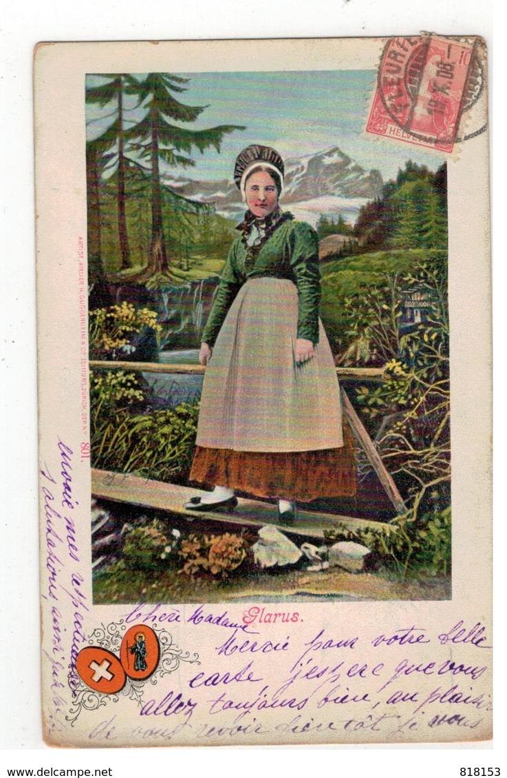 Glarus 1908   ARTIST.ATELIER H.GUGGENHEIM & C° N° 801 - Other
