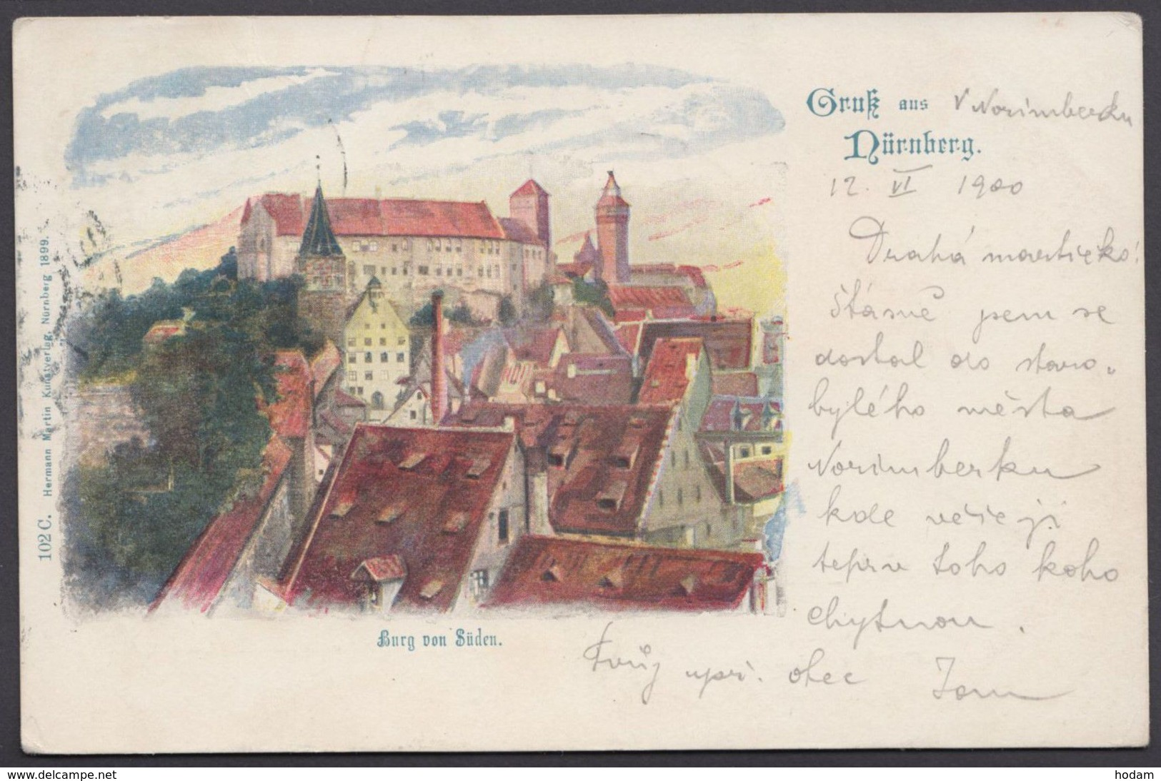 """""""Nürnberg"""", Gruß Aus..., Farbig, 1900 Gelaufen - Nürnberg"""