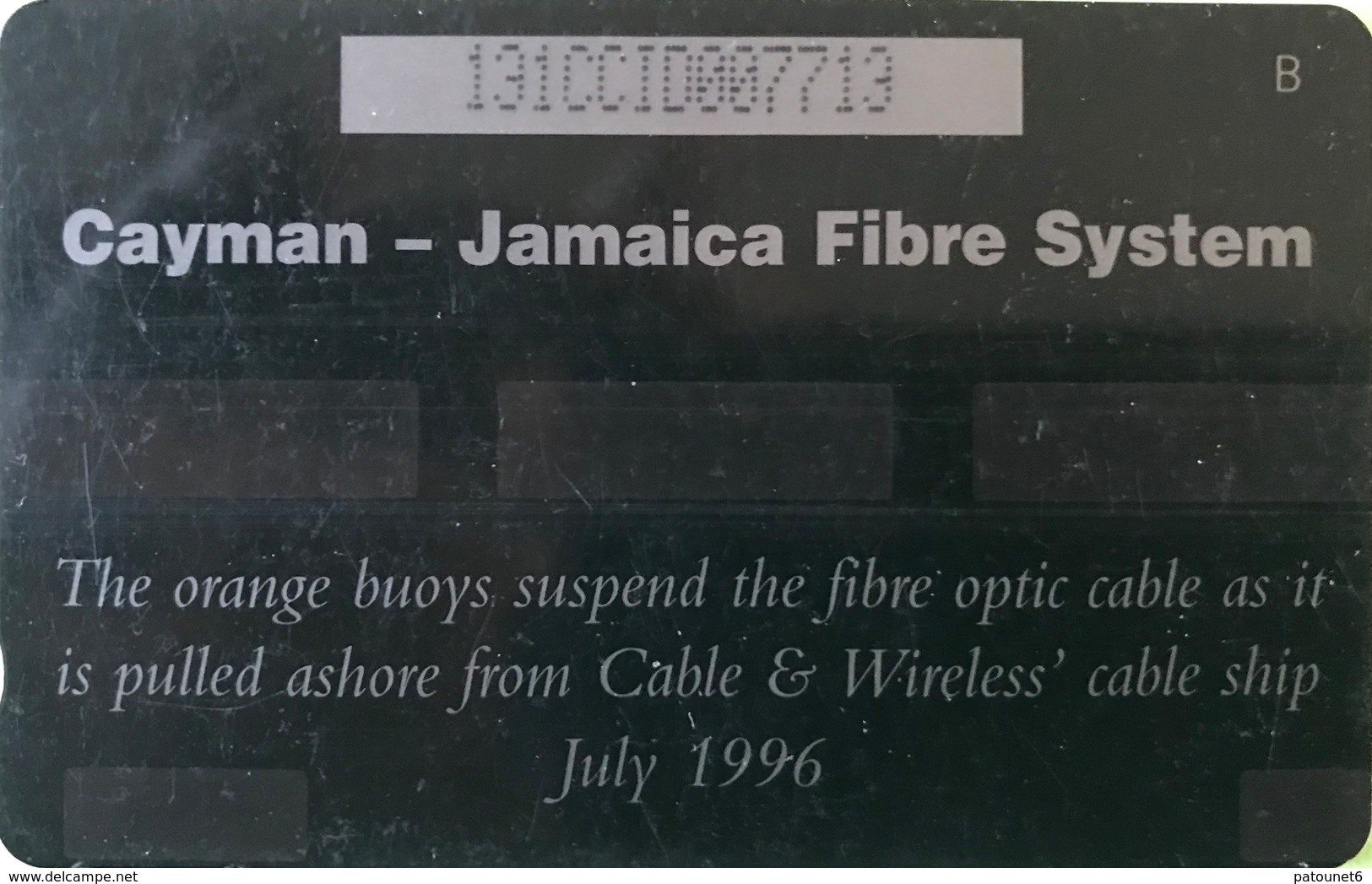 ILES CAYMAN  -  Phonecard  -  Cabble & Wirelees  -  The Orange Buoys Suspend ..  -  CI $ 15 - Iles Cayman