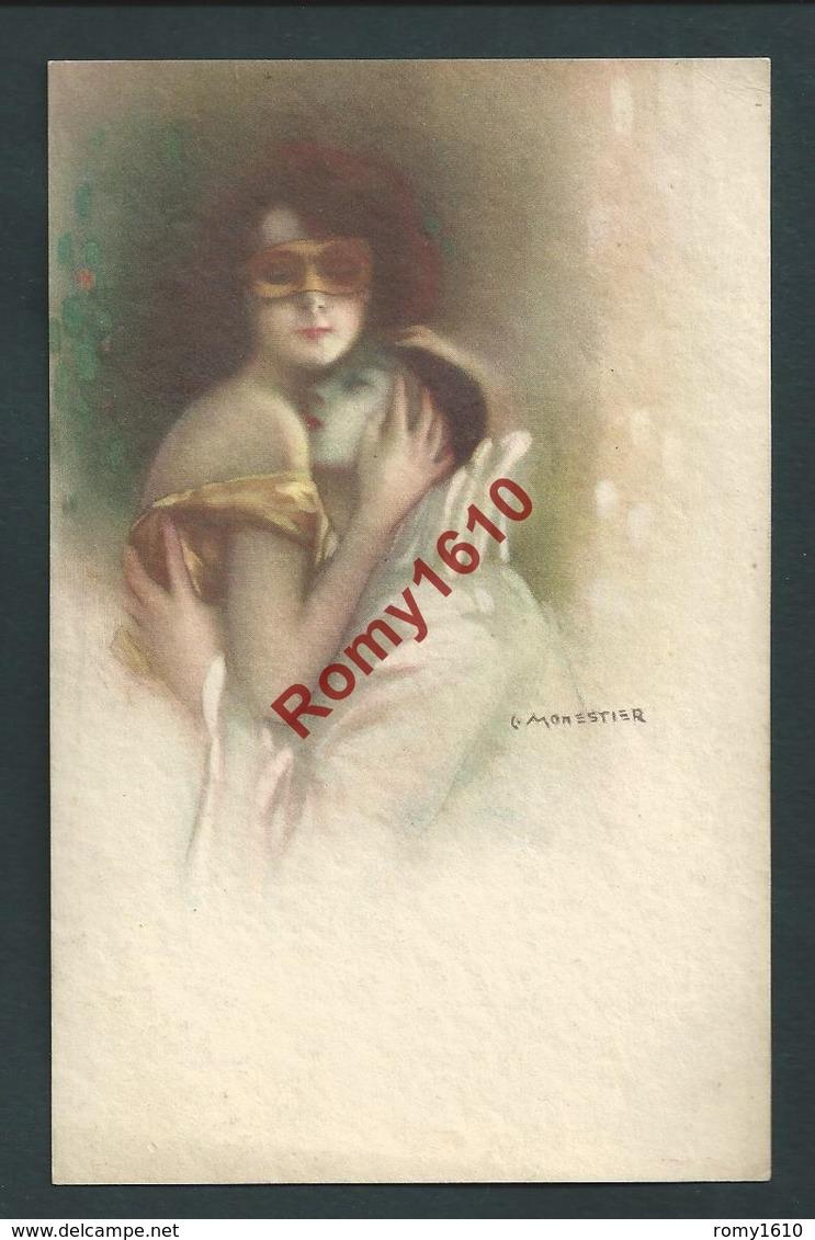 MONESTIER C. Superbe Série N°27. 4 Cartes. Pierrot Colombine, Carnaval. Assez Rare. - Monestier, C.