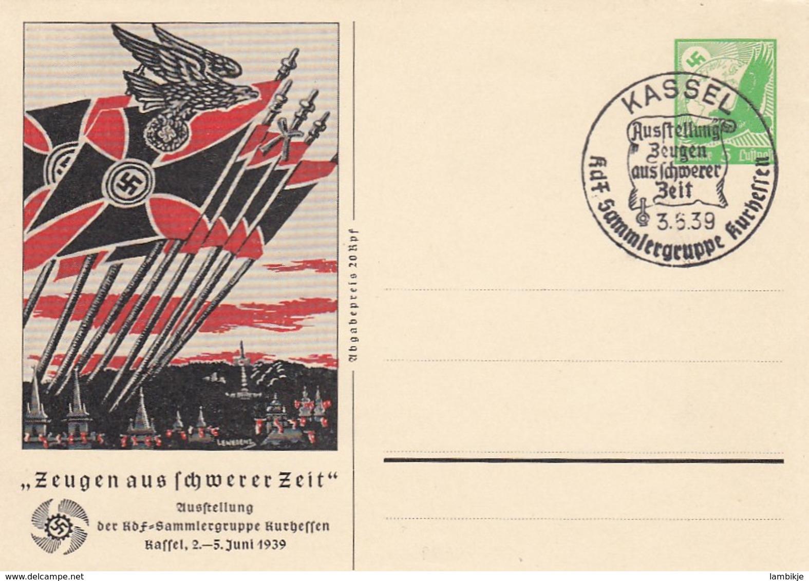 Deutsches Reich Propaganda Postkarte 1939 Fahnen - Deutschland