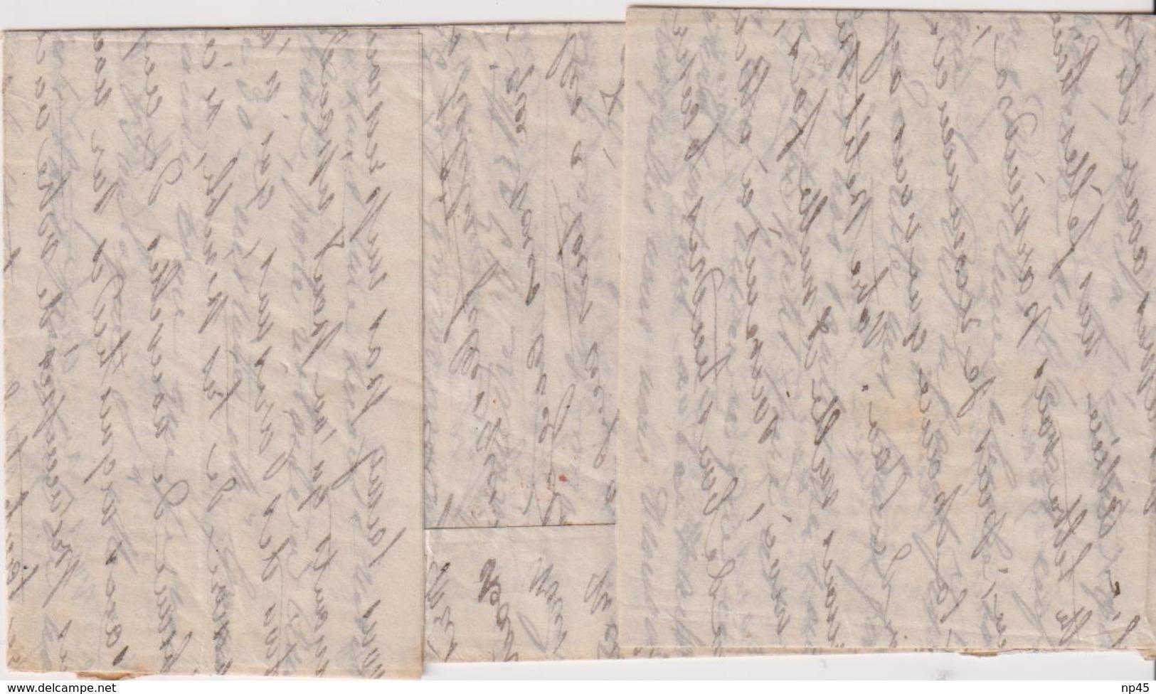 FRANCE                         4 BALLONS MONTES POUR LA GRANDE BRETAGNE AVEC AFFRANCHISSEMENT DEF. - 1849-1876: Période Classique