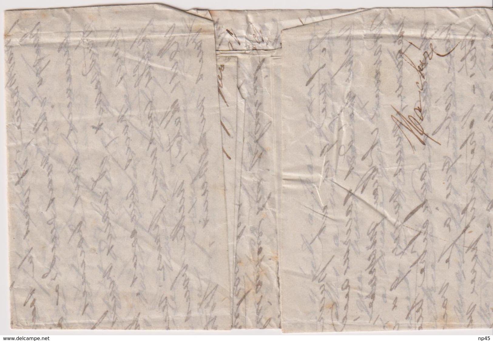 FRANCE                         4 BALLONS MONTES POUR LA GRANDE BRETAGNE AVEC AFFRANCHISSEMENT DEF. - 1849-1876: Periodo Clásico