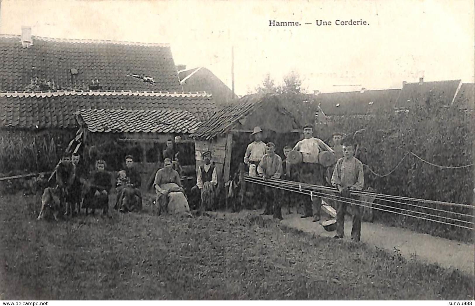 Hamme - Une Corderie Touwslagerij (top Animatie, Zeldzaam, Zie ZOOM, Bertels 1908, Vieux Métier) - Hamme