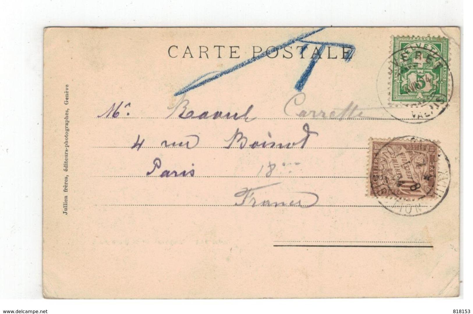 J J 74A - Montreux Et La Dent Du Midi 1904 - Suisse