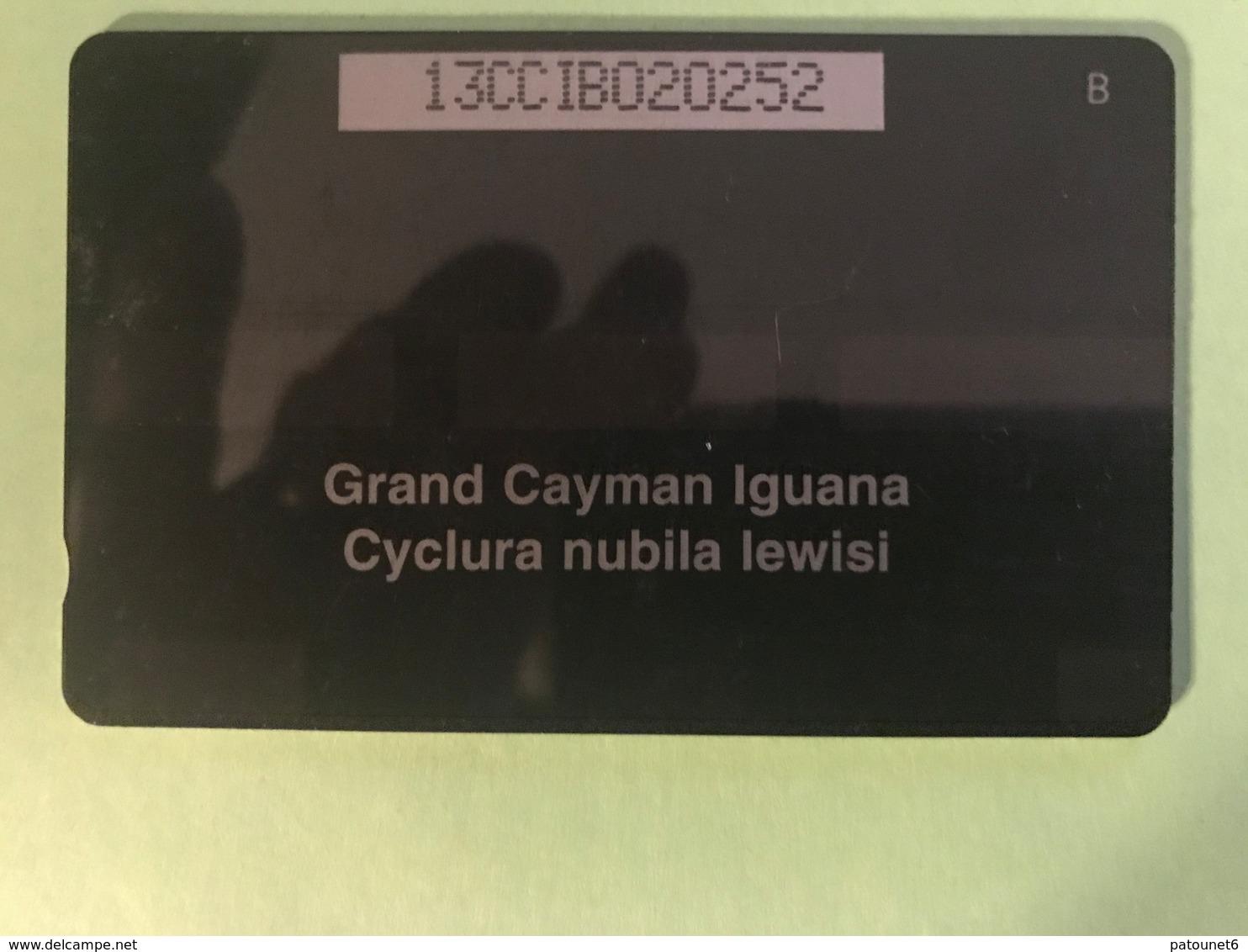 ILES CAYMAN  -  Phonecard  -  Cabble & Wirelees  -  Grand Cayman Iguana  -  CI $ 10 - Iles Cayman