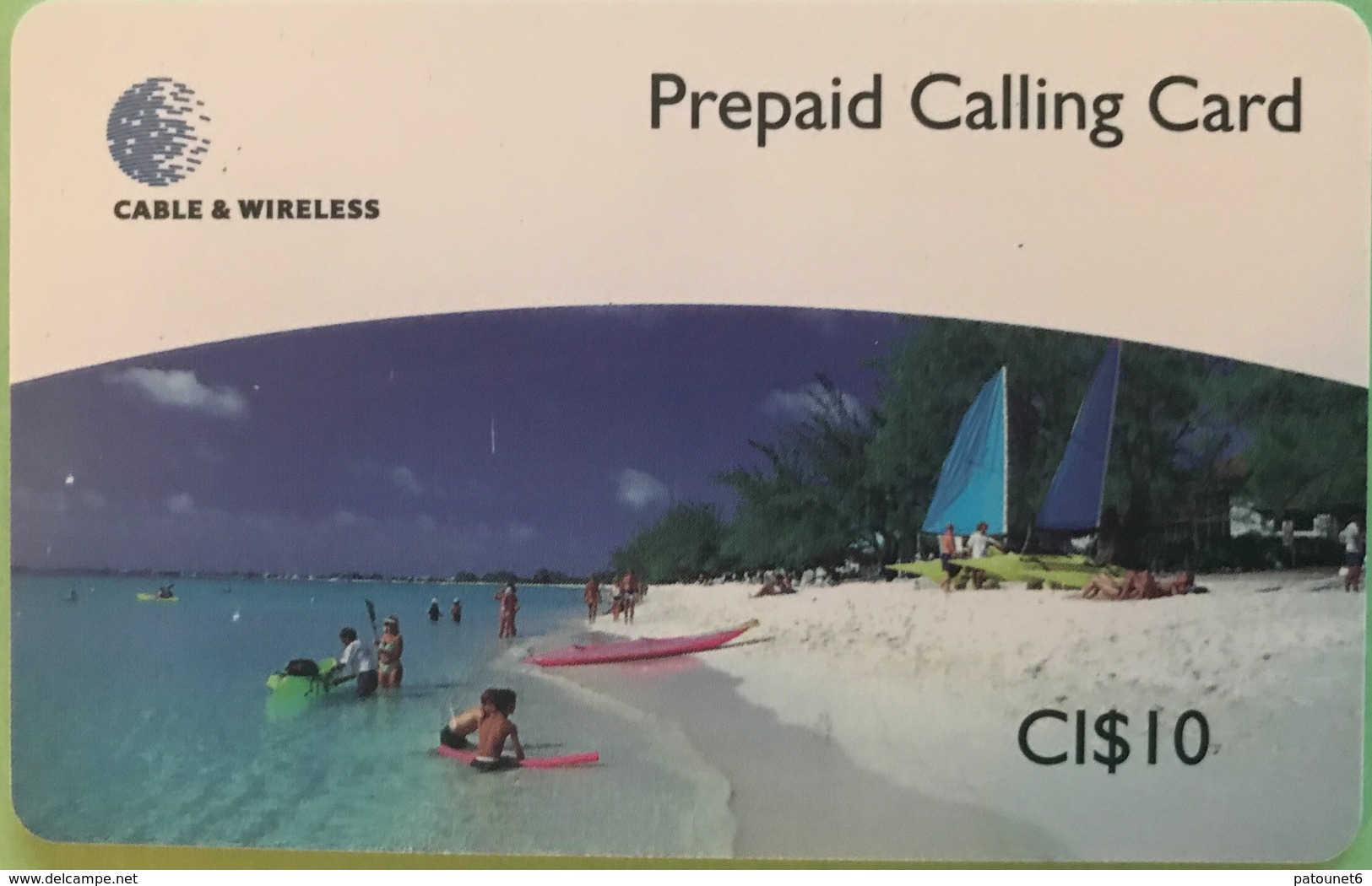 ILES CAYMAN  -  Phonecard  -  Cabble & Wirelees  -   CI $ 10 - Iles Cayman