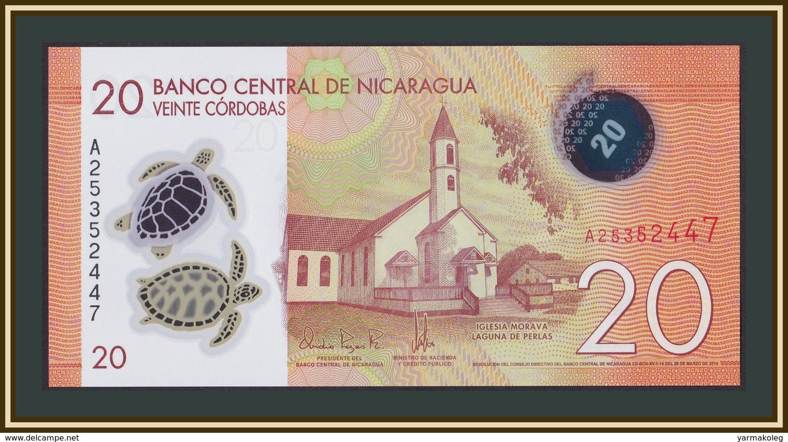 2015 Polymer//p211 UNC Nicaragua 50 Cテウrdobas