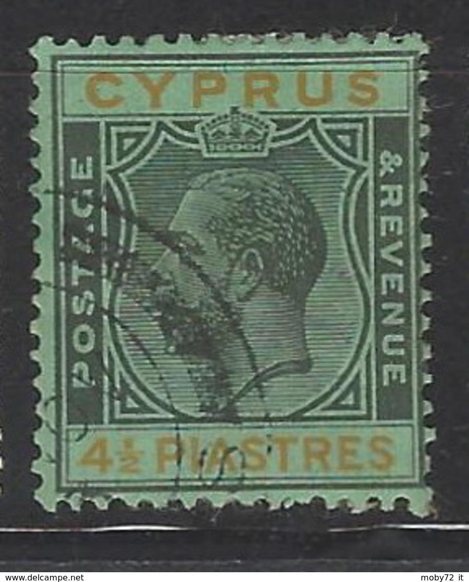 Cipro - 1924 - Usato/used - King Georg V - Mi N. 94 - Cyprus (...-1960)