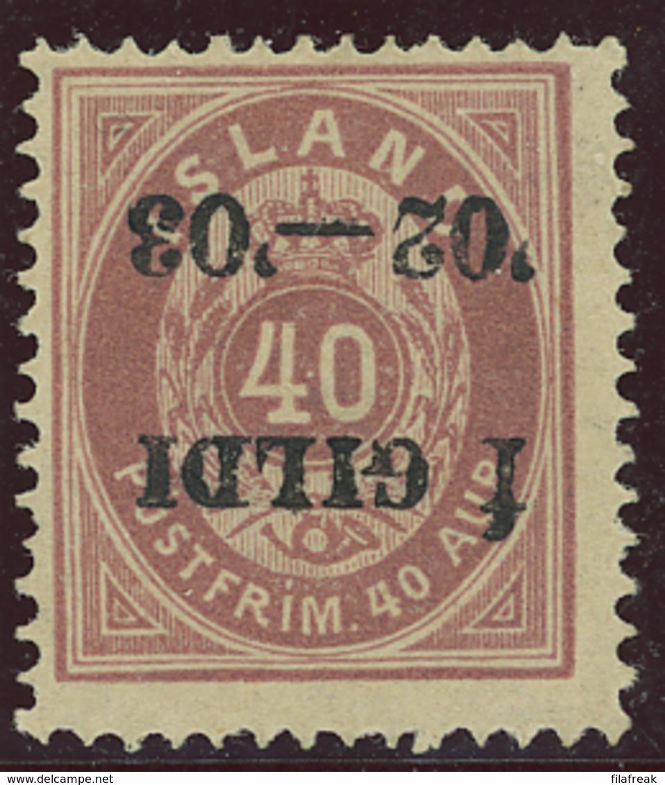 Ijsland / Iceland / Island Facit 42v1 MH - 1873-1918 Danish Dependence