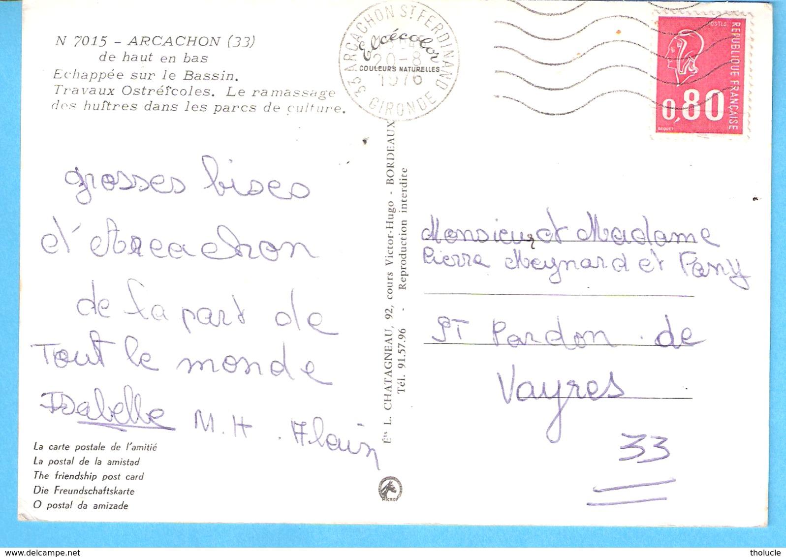 Bassin D'Arcachon-Gironde)-1976-Multivues-Travaux Ostréîcoles-Le Ramassage Des Huîtres (Huître)dans Les Parcs De Culture - Arcachon