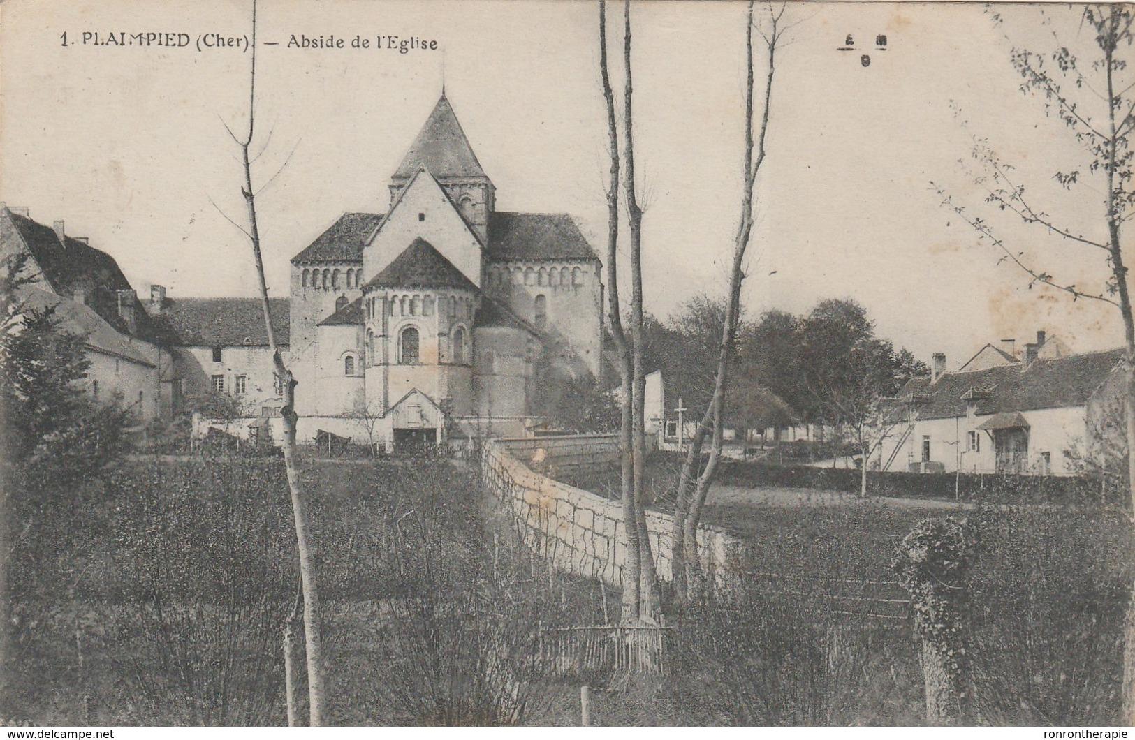 CPA (18)  PLAIMPIED Abside De L'église  (R.V)   D 167 - Autres Communes