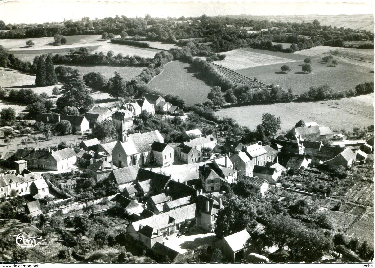 N°6151 T -cpsm Crézancy En Sancerre -vue Aérienne- - Autres Communes