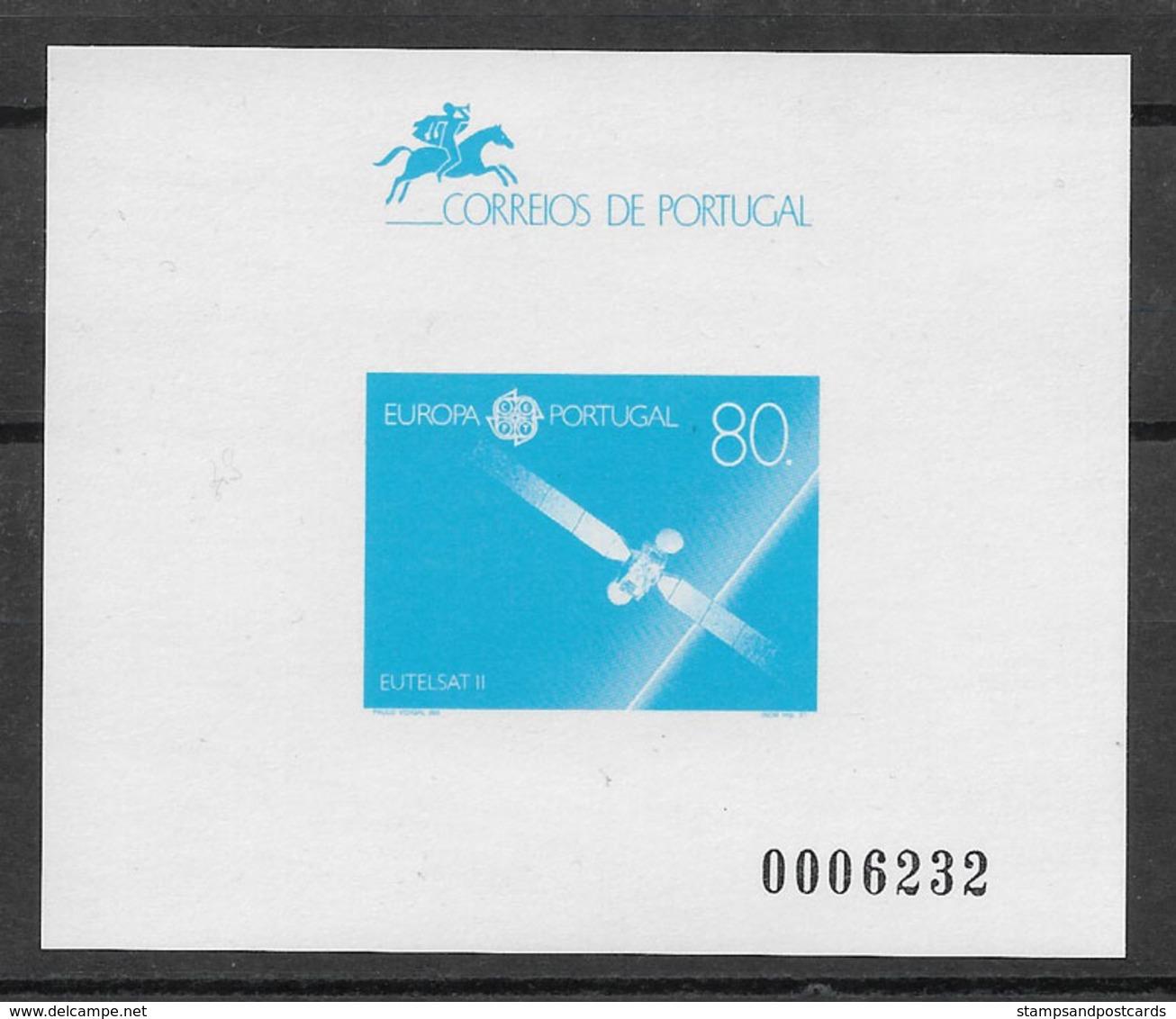Portugal Épreuve Souvenir Europa CEPT 1991 Espace Space Eutelsat II Souvenir Proof - 1991