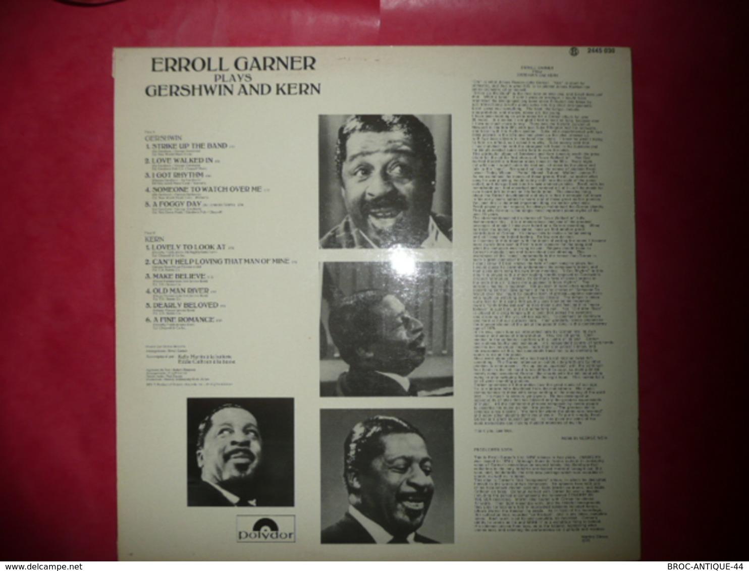 LP33 N°2933 - ERROLL GARNER - PLAYS GERSHWIN & KERN - 2445 030 - DISQUE TRES EPAIS ***** - Jazz