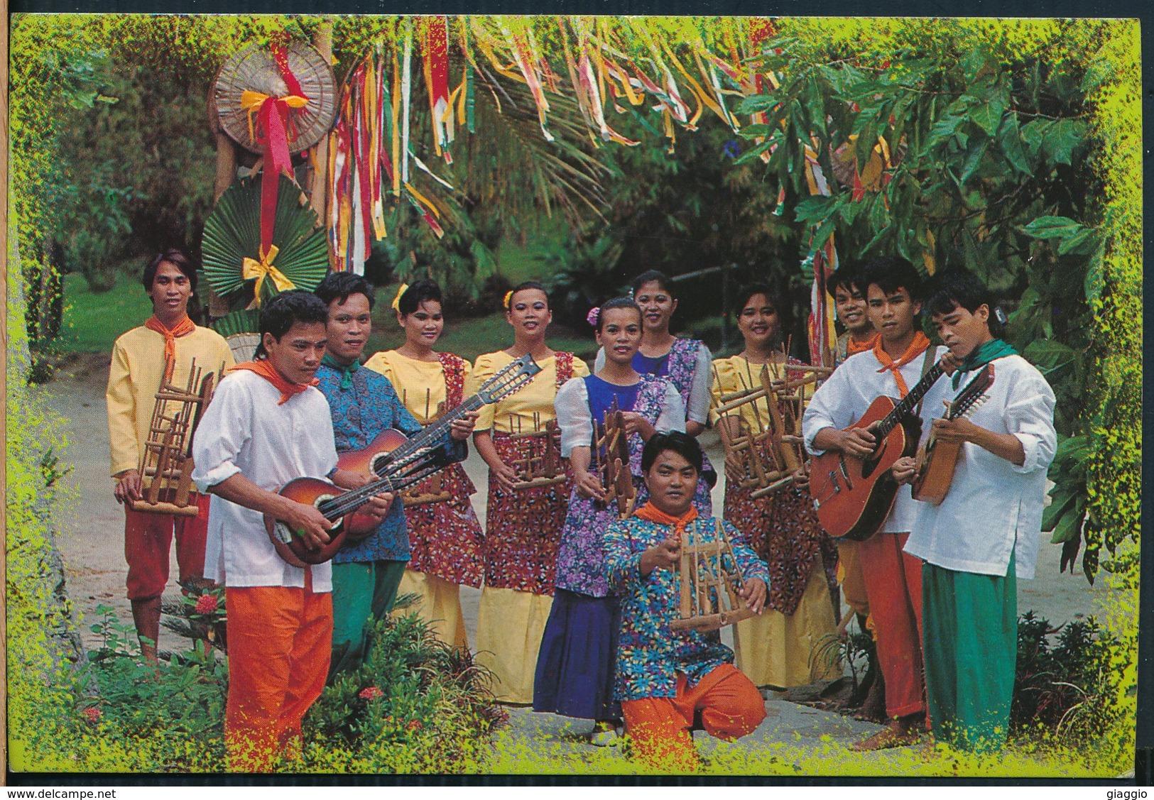 °°° 20491 - PHILIPPINES - FOLK SINGERS OF DAKAK BEACH RESORT °°° - Filippine
