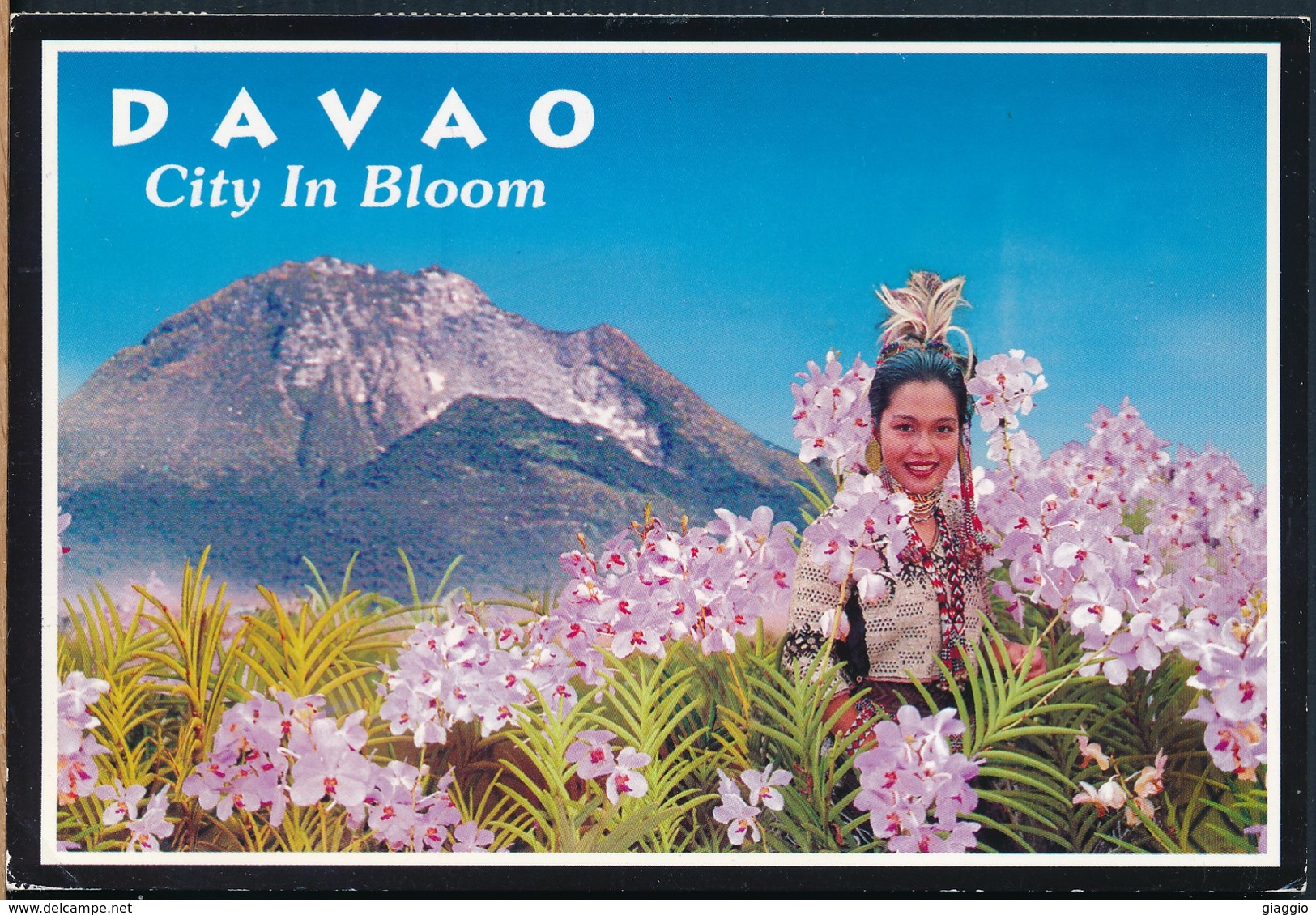 °°° 20518 - PHILIPPINES - DAVAO - CITY IN BLOOM - 2004 With Stamps °°° - Filippine