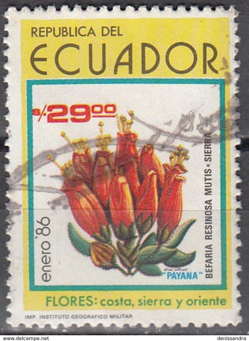 Ecuador 1986 Michel 2017 O Cote (2005) 0.50 Euro Fleur Cachet Rond - Ecuador