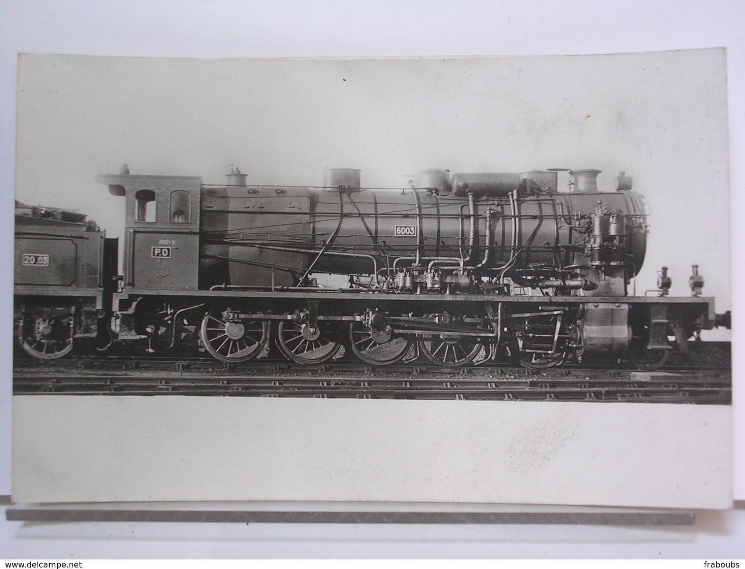 LES LOCOMOTIVES FRANCAISES - P.O. D.47 - MACHINE 6003 A SURCHAUFFEUR SCHMIDT - Trains