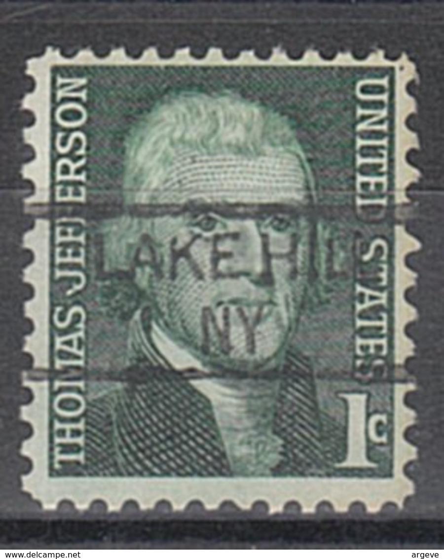 USA Precancel Vorausentwertung Preo, Locals New York, Lake Hill 835, - Vereinigte Staaten