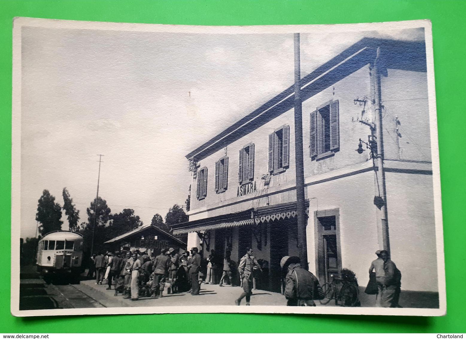 Cartolina - Asmara ( Eritrea ) - Stazione Ferroviaria - 1942 Ca. - Unclassified