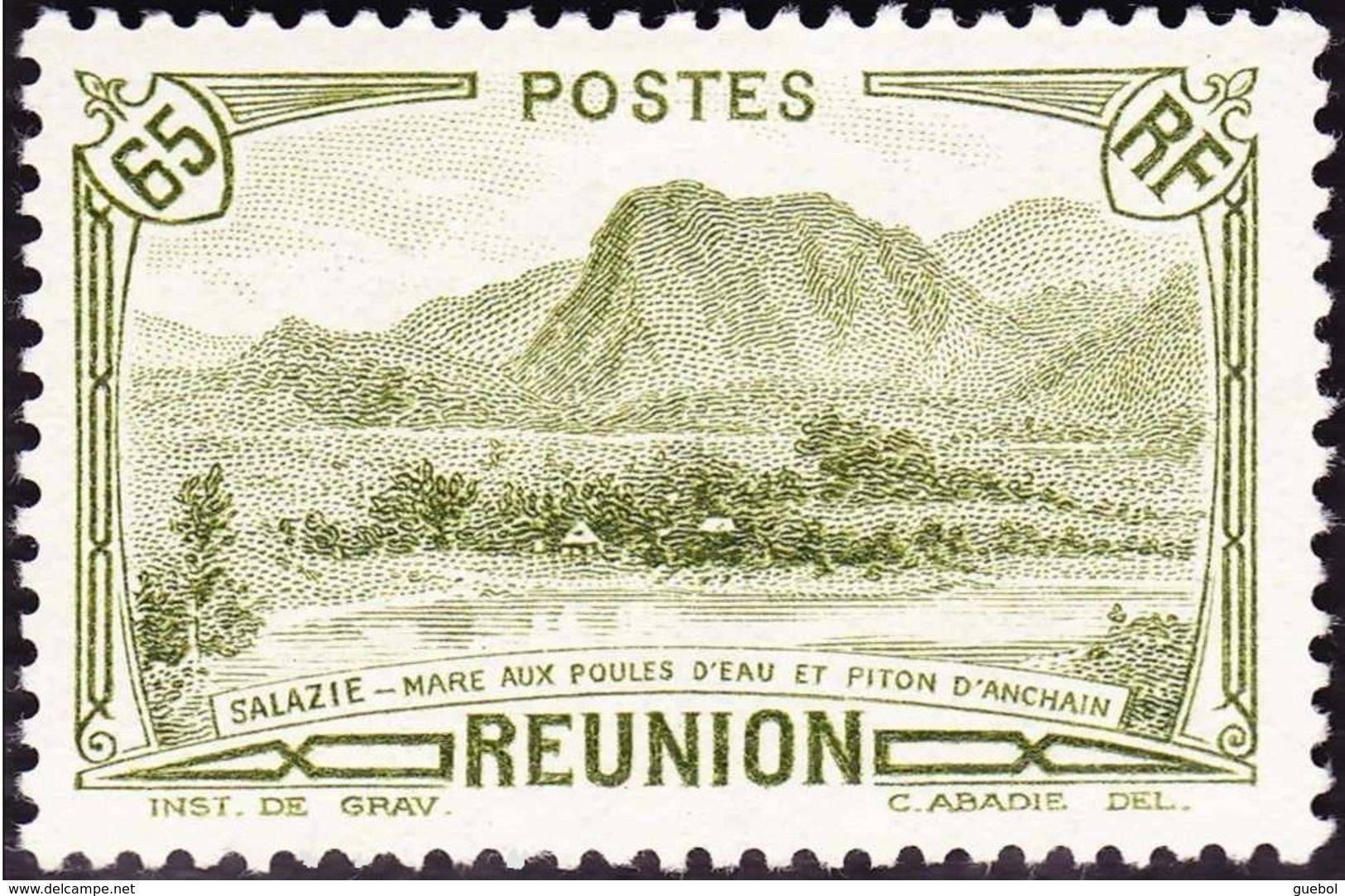 Réunion N° 137 ** Vue - Salazie, Mare Aux Poules D'eau Et Piton D'Auchain - 65c Olive - Nuevos