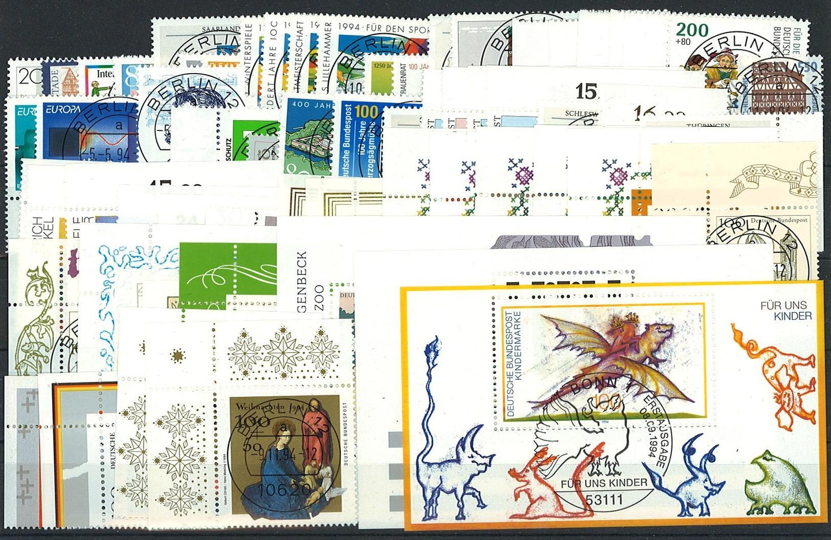 Bund Jahrgang 1994 Gestempelt Einige Mit ESST - BRD