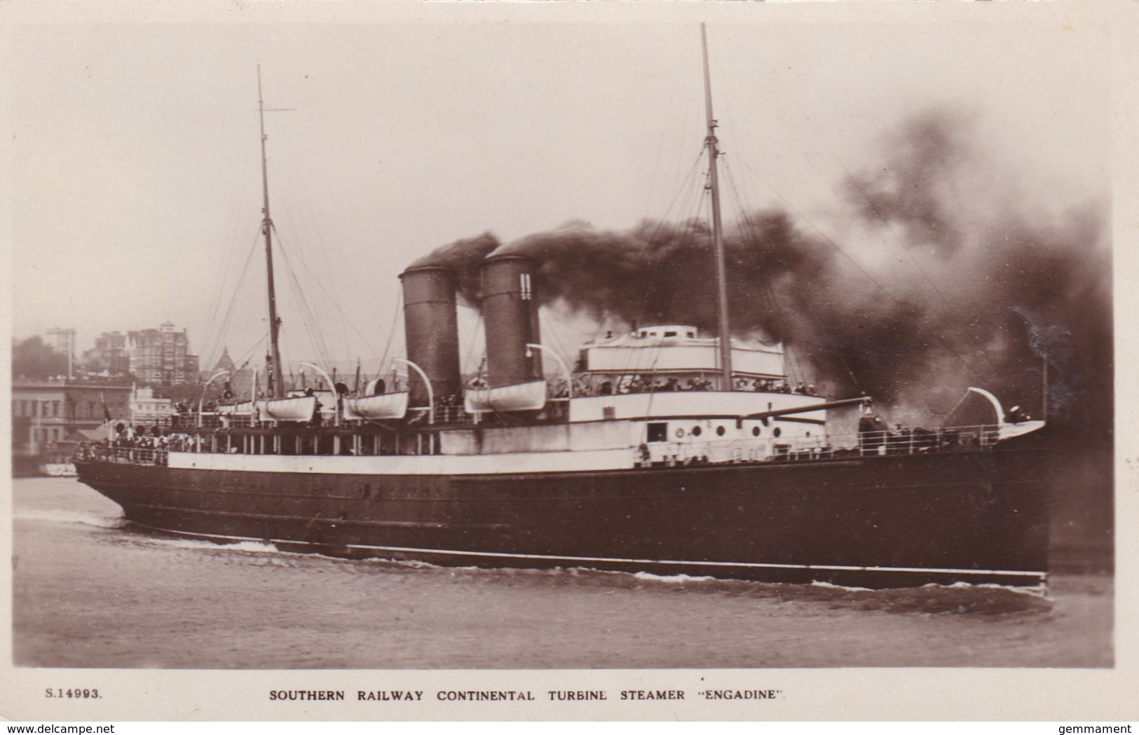 SOUTHERN RAILWAY STEAMER- ENGADINE - Paquebote