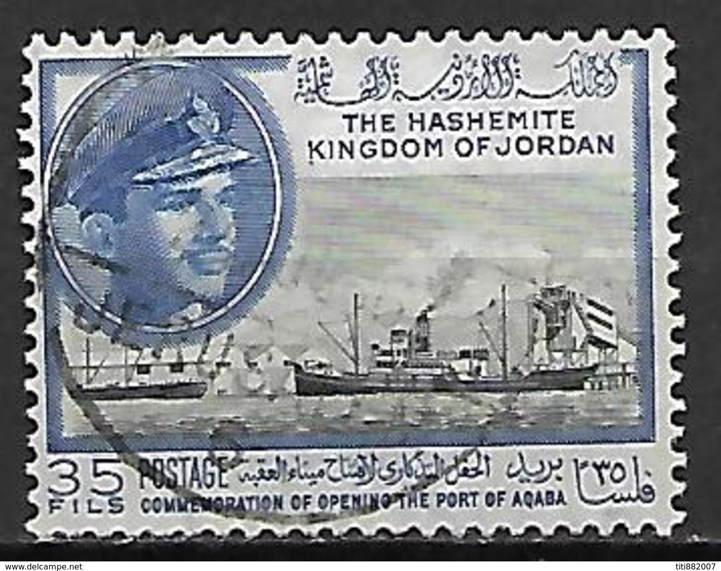 JORDANIE    -   Roi Hussein  /  Bateau  /  Port D' Aqaba,   Oblitéré - Jordanie