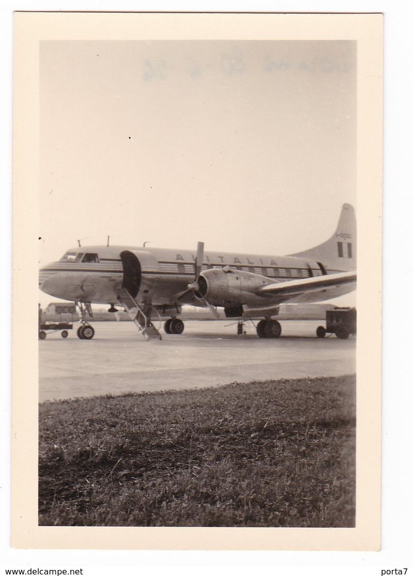 """AEROPLANO - """" ALITALIA CONVAIR 340 """"  CONVAIR PLANE - FOTO ORIGINALE 1954 - Aviazione"""