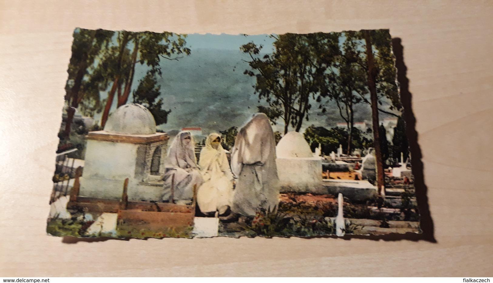 Afrique Du Nord, Scenes, Types, Mauresques Au Cimetiére - Algeria