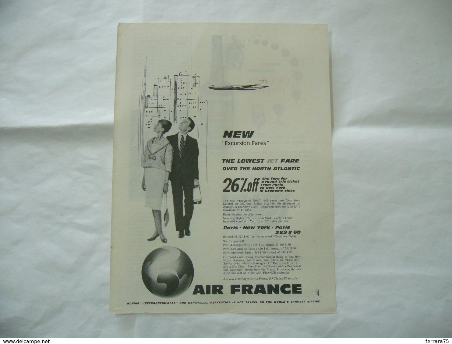 PUBBLICITà ADVERTISING AIRLINES AIR FRANCE  -67 - Pubblicitari